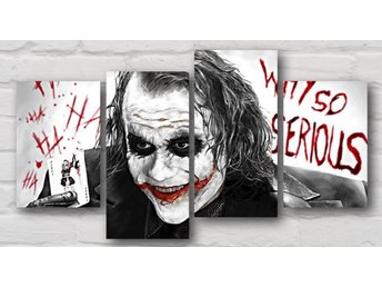 The Joker Batman *Why So Serious* CANVASTAVLA 4 st! Heath Ledger