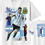 Tshirt med Messi Barcelona MEDIUM - Tryck fram & bak
