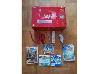 Nintendo Wii Super Mario Bros. 25th Anniversary Limited Edition Red Console