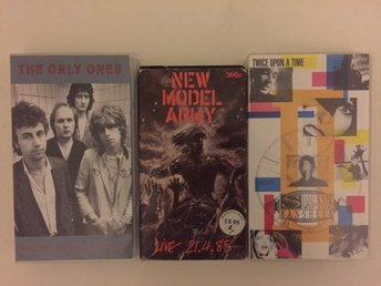 SIOUXSIE, NEW MODEL ARMY, ONLY ONES på VHS