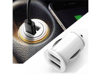 Dual 2 Port USB Mini Car Truck Charger Adapter for iPhone White 12V Power - Kottayi - Dual 2 Port USB Mini Car Truck Charger Adapter for iPhone White 12V Power - Kottayi