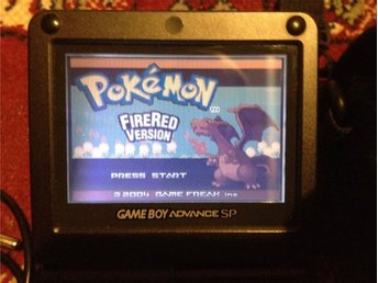 Game Boy Advance SP+Pokemon Firered