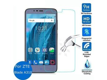 2x Pcs Tempered Glass Screen Protector For ZTE Blade A310 ( New & Sealed )
