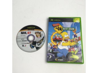 Xbox-spel, 2 St, The Simpsons Hit And Run, NHL 07