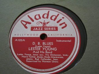 Aladdin 123 Lester Yound And His Band