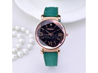 Klocka Dam GOGOEY Luxury Watch Women Grön Fri Frakt Ny