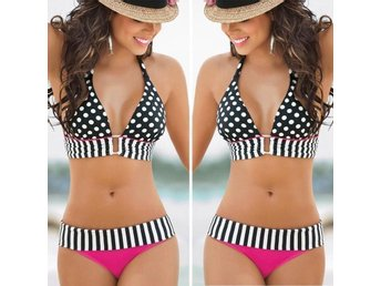 Sexy Women's Swimwear Bandeau Push-Up Padded Bra Swimsuit BeachwearBikini Set