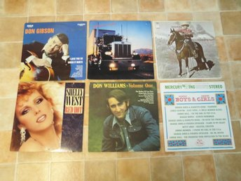 6 st Lp's. Div Country. Gene Autry, Shelly West mfl.