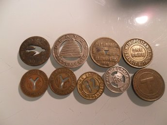 Transortation tokens, US and France for example Pittsburg Railways 1922
