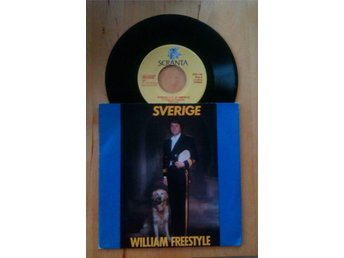 "WILLIAM FREESTYLE - Sverige 7"" 1982 Eddie Meduza Donna Fargo"