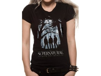 Supernatural - Group Outline  T-Shirt, Kvinnor Large