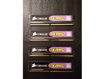 Corsair 8GB (4X2GB) DDR2 ramminne 800MHz