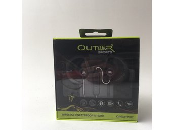 Outlier, Hörlurar, In-ear, Wireless Waterproof, Svart, Bluetooth