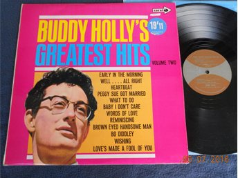 BUDDY HOLLY - Greatest Hits Vol. 2, LP Coral UK 1970