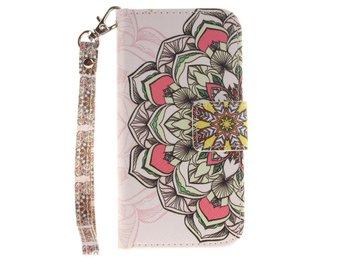 Plånboksfodral iPhone 5/5S/SE - Colored Henna Flower - Norsborg - Plånboksfodral iPhone 5/5S/SE - Colored Henna Flower - Norsborg