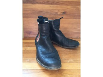 Cool svart leather boots. stl 38