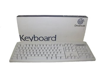Sega Dreamcast Keyboard (Official) (HKT-7630) (Komplett) (Beg)