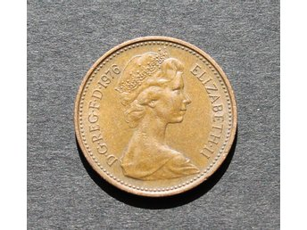 STORBRITANNIEN - 1 New Penny 1976 - KM 915 - Brons - United Kingdom