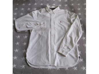 Polo Ralph Lauren skjorta - Oxford buttondown Vit - Slim fit - Large