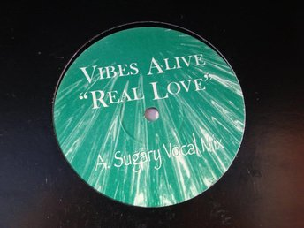 "VIBES ALIVE - REAL LOVE 12"" ELECTRONIC POP/ROCK"