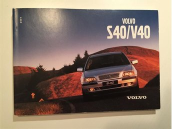 S40/V40 Instruktionsbok / Manual 2001