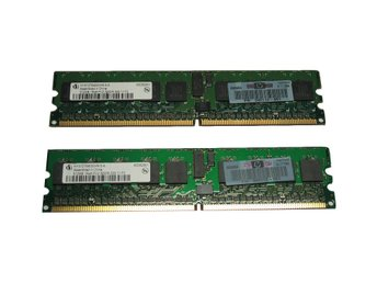 HP 1GB DDR2 RAM PC2-3200 2x512MB REG Kit, 343055-B21