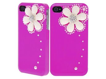 Snow Flower & Diamonds (Rosa) iPhone 4/4S Skal