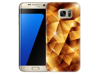 Samsung Galaxy S7 Edge Skal Golden Polygons