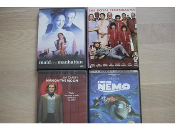 Nemo,The Royal Tenenbaums,Maid in Manhattan,Man on The Moon