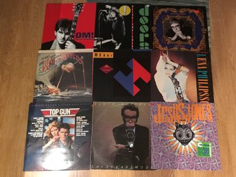 LP-Paket 9st Rock Pop Blandat The Doors Elton John Mfl
