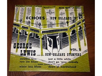 GEORGE LEWIS 10' BLUE NOTE 7013 195? New Orleans Stompers