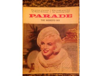 Marilyn Monroe magazine cover 1963. Parade. USA