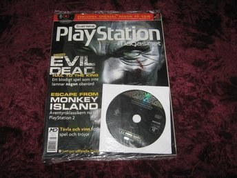 PLAYSTATION MAG Nr45 NY MED CD AUGU/2001 EVIL DEAD RETRO