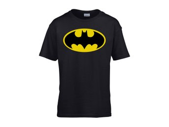 BATMAN LOGO BLACK BARN T-SHIRT - XL