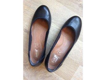 Jana ballerinasko med klack 39 soft walk svarta skin läder - Vetlanda - Jana ballerinasko med klack 39 soft walk svarta skin läder - Vetlanda