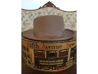 Vintage Borsalino Hatt 1940-tal Grand Prix Paris 1900 57cm 7 1/8 Topp Skick!! - Katrineholm - Vintage Borsalino Hatt 1940-tal Grand Prix Paris 1900 57cm 7 1/8 Topp Skick!! - Katrineholm