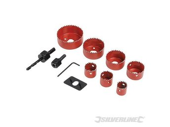 Holesaw kit 10 pieces Set - Hole Saws For Plaster Board Wood Fiber glass