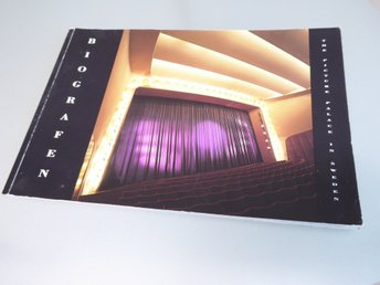 Biografen / The Picture Palace in Sweden, Häftad bok. Arkitekturmuseet. 1989.