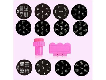 Express Nagel stämpel 12st plattor mönster-Dekorera naglarna - Shanghai - Express Nagel stämpel 12st plattor mönster-Dekorera naglarna - Shanghai