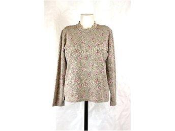 4189257bd401 Blommig topp / tröja, beige, röd, rosa (327679652) ᐈ RA-rely på Tradera