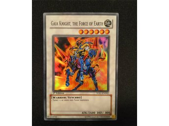Gaia Knight, the Force of Earth 5DS1-EN042 Super Rare Yu-Gi-Oh Card 1st Edition