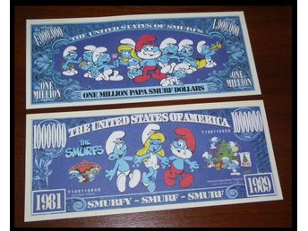 ONE MILLION PAPA SMURF DOLLARS