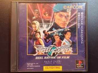 Street Fighter: Real Battle on Film till Playstation - Van Damme - Japanskt
