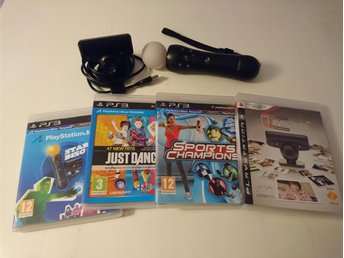 - Stort Playstation Move Paket! PS3 -