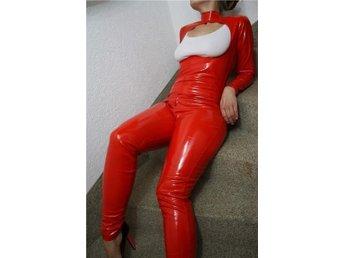 PVC Röd catsuit storlek S - Nacka - PVC Röd catsuit storlek S - Nacka