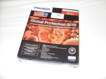 Panda Global Protection 2010 3 PC datorer Ny! Antivirus Windows 7