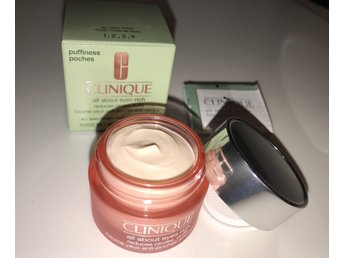 Clinique all about Eyes Rich cream Reduces circles, puffs all skin types 15ml NY