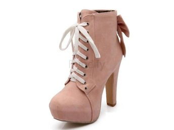 Dam Boots Bowknot New Fashion Autumn Winter Shoes Pink 36