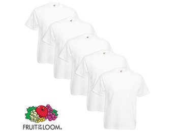 Fruit of the Loom Value Weight T-shirt 5 st vit 3XL
