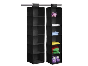 6 SECTION SHELVES HANGING WARDROBE